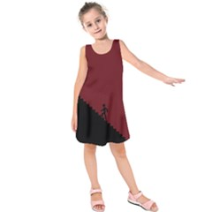 Walking Stairs Steps Person Step Kids  Sleeveless Dress