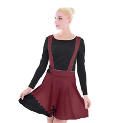 Walking Stairs Steps Person Step Suspender Skater Skirt