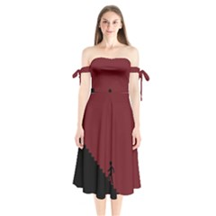 Walking Stairs Steps Person Step Shoulder Tie Bardot Midi Dress