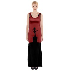 Baby Groot Guardians Of Galaxy Groot Maxi Thigh Split Dress