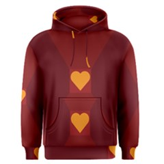 Heart Red Yellow Love Card Design Men s Pullover Hoodie