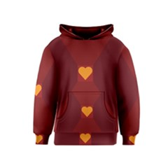 Heart Red Yellow Love Card Design Kids  Pullover Hoodie
