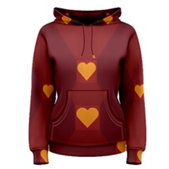 Heart Red Yellow Love Card Design Women s Pullover Hoodie