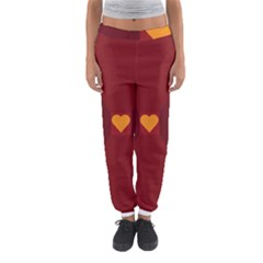 Heart Red Yellow Love Card Design Women s Jogger Sweatpants