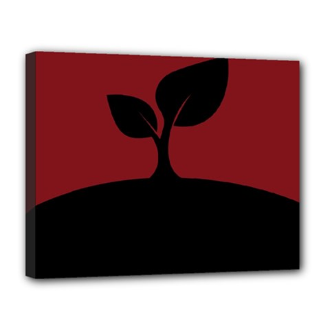 Plant Last Plant Red Nature Last Canvas 14  x 11