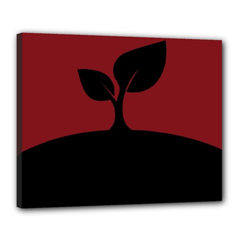 Plant Last Plant Red Nature Last Canvas 20  X 16