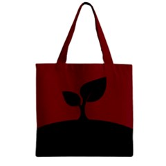 Plant Last Plant Red Nature Last Zipper Grocery Tote Bag