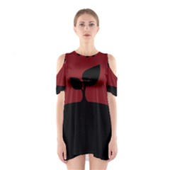 Plant Last Plant Red Nature Last Shoulder Cutout One Piece