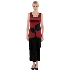 Plant Last Plant Red Nature Last Fitted Maxi Dress