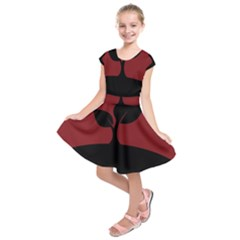 Plant Last Plant Red Nature Last Kids  Short Sleeve Dress