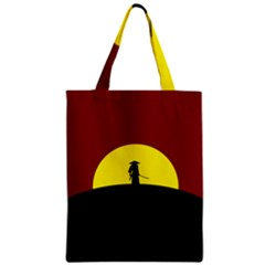 Samurai Warrior Japanese Sword Zipper Classic Tote Bag