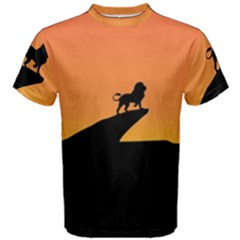 Lion Sunset Wildlife Animals King Men s Cotton Tee