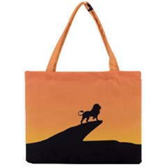 Lion Sunset Wildlife Animals King Mini Tote Bag