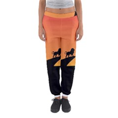 Lion Sunset Wildlife Animals King Women s Jogger Sweatpants