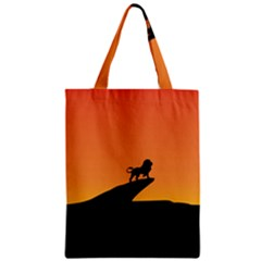 Lion Sunset Wildlife Animals King Zipper Classic Tote Bag