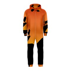 Lion Sunset Wildlife Animals King Hooded Jumpsuit (kids)