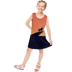 Lion Sunset Wildlife Animals King Kids  Tunic Dress
