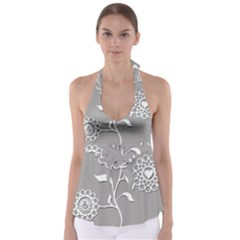 Flower Heart Plant Symbol Love Babydoll Tankini Top