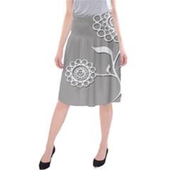 Flower Heart Plant Symbol Love Midi Beach Skirt