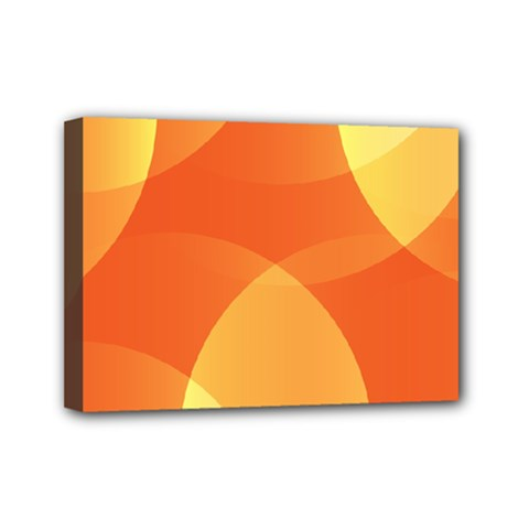 Abstract Orange Yellow Red Color Mini Canvas 7  x 5