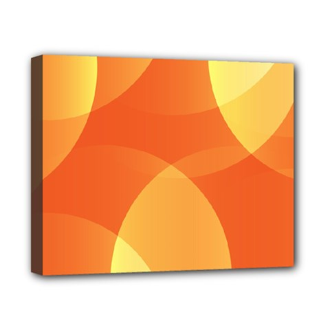 Abstract Orange Yellow Red Color Canvas 10  x 8