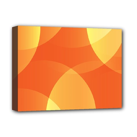 Abstract Orange Yellow Red Color Deluxe Canvas 16  x 12