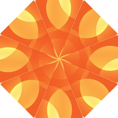 Abstract Orange Yellow Red Color Hook Handle Umbrellas (small)