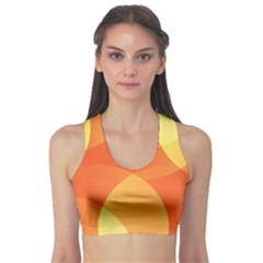 Abstract Orange Yellow Red Color Sports Bra