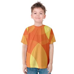 Abstract Orange Yellow Red Color Kids  Cotton Tee