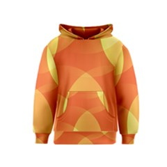 Abstract Orange Yellow Red Color Kids  Pullover Hoodie