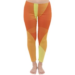 Abstract Orange Yellow Red Color Classic Winter Leggings