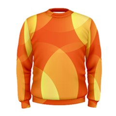 Abstract Orange Yellow Red Color Men s Sweatshirt