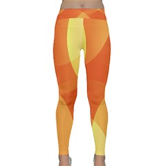 Abstract Orange Yellow Red Color Classic Yoga Leggings