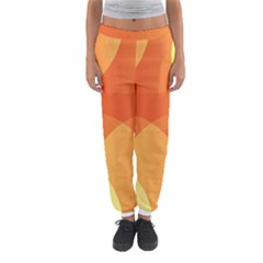 Abstract Orange Yellow Red Color Women s Jogger Sweatpants