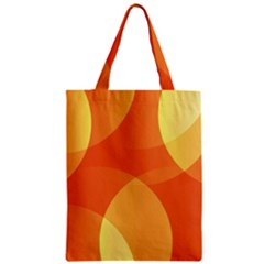 Abstract Orange Yellow Red Color Zipper Classic Tote Bag
