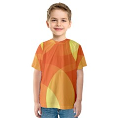 Abstract Orange Yellow Red Color Kids  Sport Mesh Tee