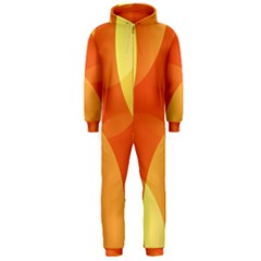 Abstract Orange Yellow Red Color Hooded Jumpsuit (Men)