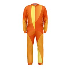 Abstract Orange Yellow Red Color OnePiece Jumpsuit (Kids)