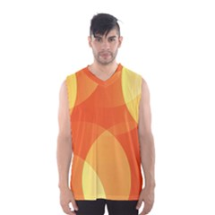 Abstract Orange Yellow Red Color Men s Basketball Tank Top