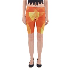 Abstract Orange Yellow Red Color Yoga Cropped Leggings