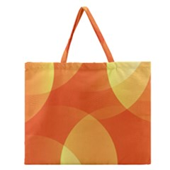 Abstract Orange Yellow Red Color Zipper Large Tote Bag