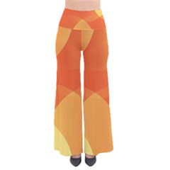 Abstract Orange Yellow Red Color Pants