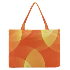 Abstract Orange Yellow Red Color Medium Zipper Tote Bag