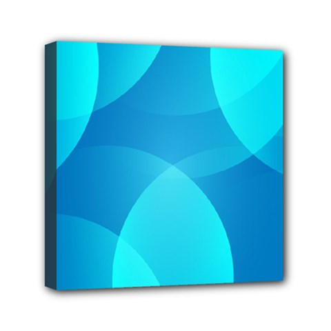 Abstract Blue Wallpaper Wave Mini Canvas 6  X 6
