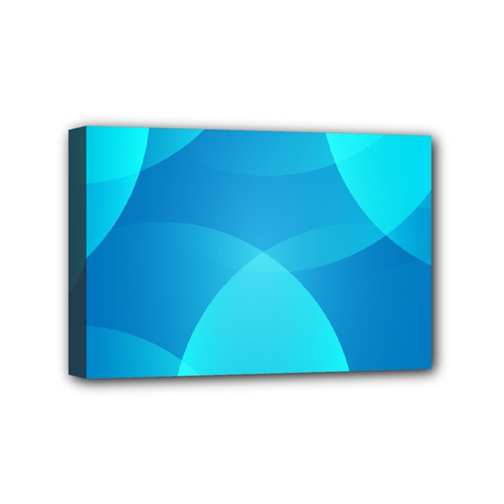 Abstract Blue Wallpaper Wave Mini Canvas 6  x 4