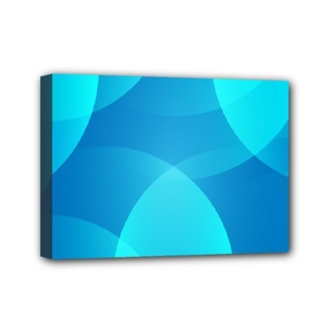 Abstract Blue Wallpaper Wave Mini Canvas 7  x 5