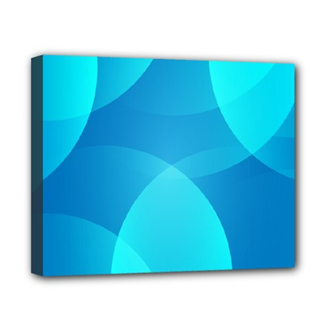 Abstract Blue Wallpaper Wave Canvas 10  x 8