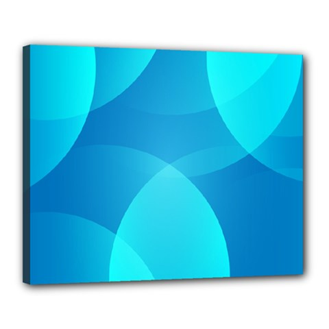 Abstract Blue Wallpaper Wave Canvas 20  x 16