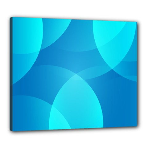 Abstract Blue Wallpaper Wave Canvas 24  X 20