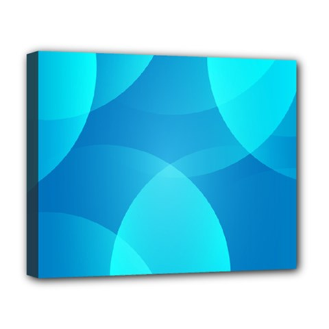 Abstract Blue Wallpaper Wave Deluxe Canvas 20  X 16